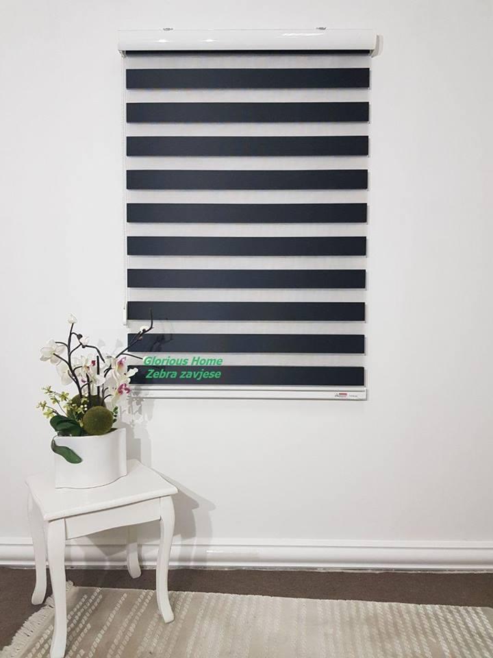 zebra zavjese crna classic