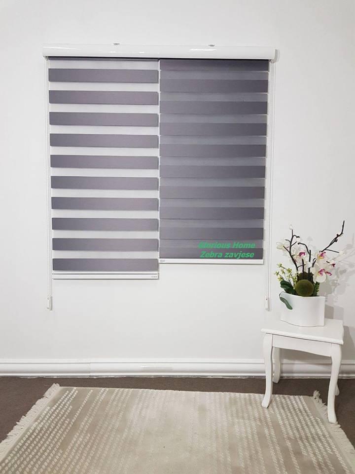 zebra zavjese antracit classic