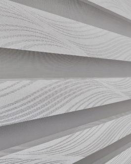 Zebra zavjesa – Srebrno bijela