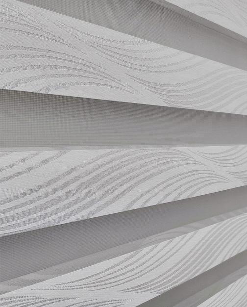 Zebra zavjesa - Srebrno bijela