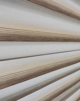 Zebra zavjesa – Zlatno bijela Lux