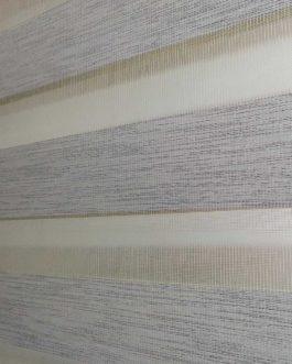 Zebra zavjesa – Bijela svjetlucava delux