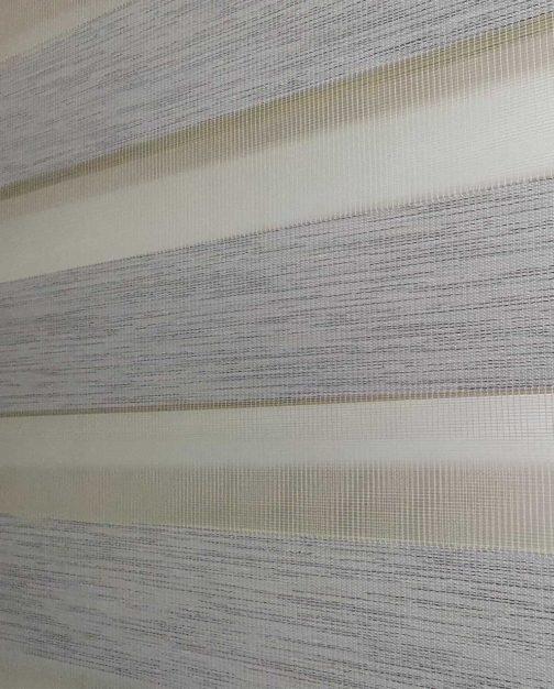 Zebra zavjesa Bijela svjetlucava