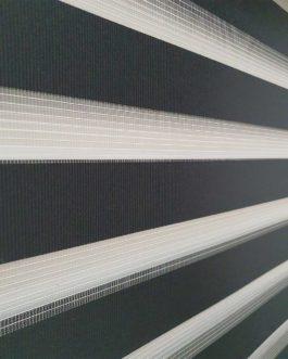 Zebra zavjesa – Crna lux