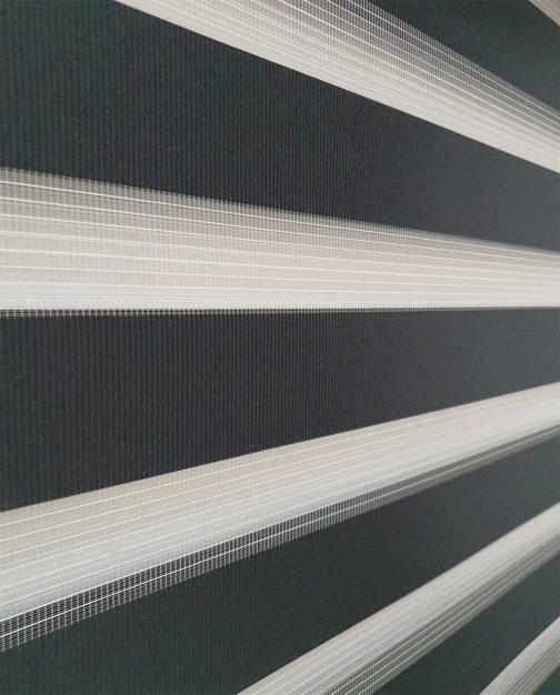 Zebra zavjesa crna lux