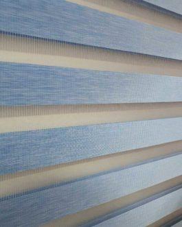 Zebra zavjesa – Svijetlo plava
