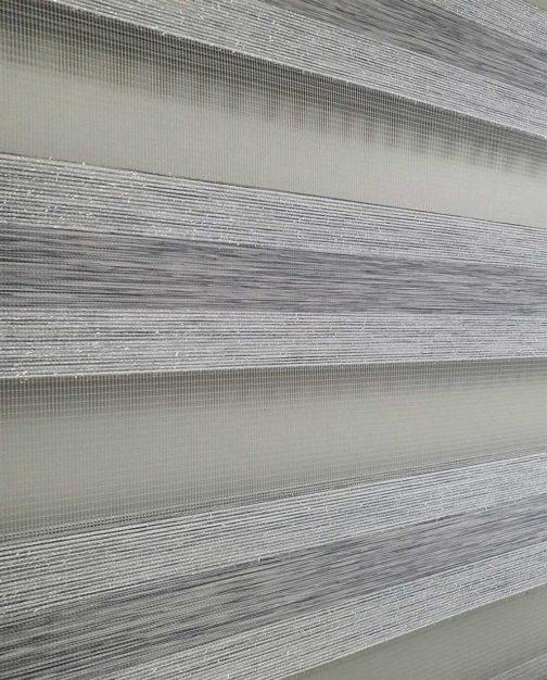 Zebra zavjesa siva delux
