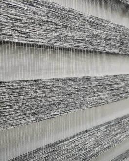 Zebra zavjesa – Crna/Siva