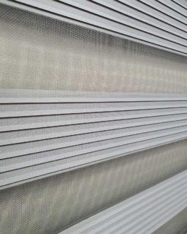 Zebra zavjesa – Siva sa faltnama