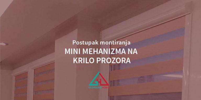 Postupak montiranja mini mehanizma na krilo prozora